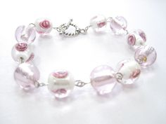I love the clear pink beads.