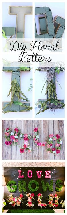 DIY Floral Letters - Click for tutorial
