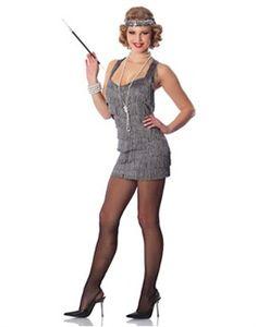 Womens Roaring 20s Flapper Girl Costume Cigarette Holder ...