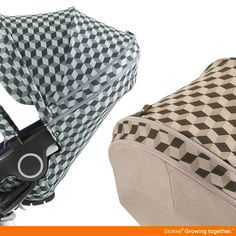 Bold cube prints for 2015! NEW Stokke Cube Style Kit fits all full-size Stokke strollers