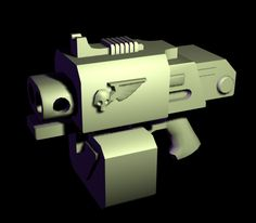 Storm Bolter Mk IV Standart Warhammer 40000 Terminator's weapon Clip size: 50-100 bolts Gyro-stabilizators for higher accurancy. ---------------- Low-poly, non-textured yet)