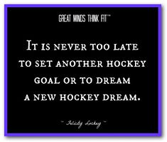 #Hockey Inspirational Quote