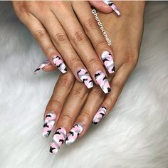 Best Nail Art - 22 Best Nail Art Designs for 2018 - Hashtag Nail Art camoacrylic. - Best Nail Art – 22 Best Nail Art Designs for 2018 – Hashtag Nail Art camoacrylicnails - Ongles Camouflage Rose, Camouflage Nails, Pink Camo Nails, Camo Nail Designs, Best Nail Art Designs, Summer Acrylic Nails, Best Acrylic Nails, Stiletto Nail Art, Coffin Nails