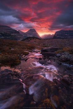 Bolero of Fire, Glacier National Park, Montana, by Alex Noriega, on flickr