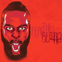 Houston Rockets | James Harden Fear the Beard, Fan Art