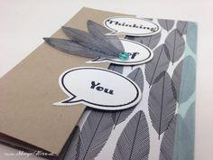 Stampin Up - Stempelherz - Drehkarte - Ganz schön aufgeblasen - Heiteres Hurra - Four You - Designerpapier Schwarz auf Weiß - Drehkarte Thinking of You 06