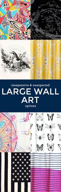 8 Inexpensive & Unexpected Large Wall Art Options – You'll never guess what they are! #art