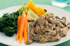 A low-fat and low-carbohydrate version of a family favourite. This beef stroganoff is heart friendly too.