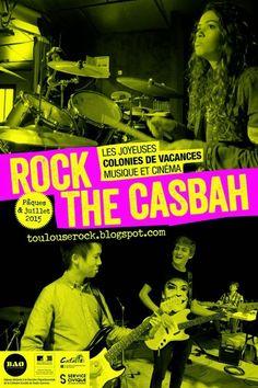 En 2015, les séjours de la colonie de vacances musique et cinéma Rock The Casbah se déroulent toujours à Montbrun-Bocage en Haute-Garonne. Pour la 3e année consécutive, le Moulin de Bouydou sera le lieu d'hébergement et d'activité musicale et cinéma de nos colos ! On s'y plaît, les ados aussi, on en profite ! http://toulouserock.blogspot.com/