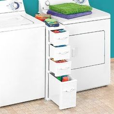 Between washer/dryer.  NEED THIS!!