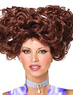 attrice protagonista della casa marrone di bambola parrucca del partito di Halloween 30 centimetri delle donne