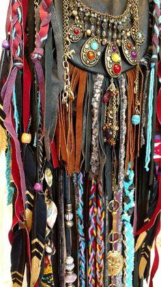 Handmade Black Leather Fringe Bag Hippie Festival Wear Boho Western Purse tmyers #HandmadebyTraciMyers #ShoulderBag