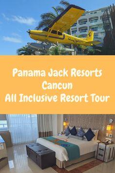 Panama Jack Cancun All Inclusive Resort Tour All Inclusive Mexico, Adult Only All Inclusive, All Inclusive Family Resorts, Cancun Resorts, Mexico Resorts, Vacation Places, Dream Vacations, Splash Park, Best Honeymoon