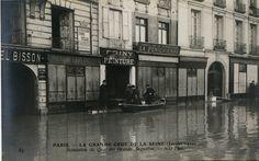 #Quai des #GrandsAugustins #1910 #Crues #Paris #Geneanet #Monuments