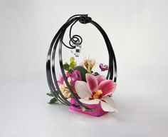 Fuchsia and black holder rings with by lechoixdelamariee on Etsy