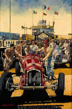 Barry Rowe Historic Motorsport Art