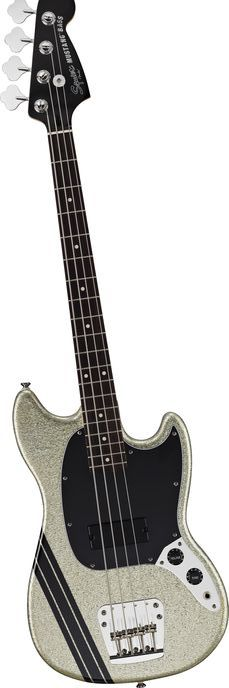 Squier Mikey Way Signature Mustang Electric Bass Guitar