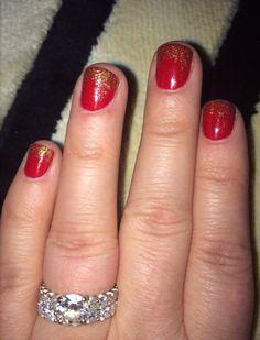 Holiday nails #glitter #christmas