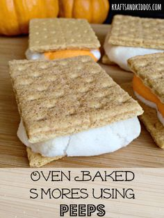 Oven baked smores using peeps