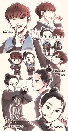 150523 & 150524 Chen and XiuminI like their hairstyles so much~ ♥♥