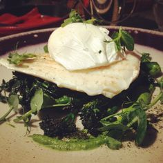 Lemon sole and poached egg at Caxton Grill, London.