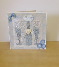 Anniversary card using the Tattered Lace dies