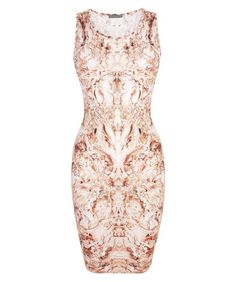 alexander mcqueen pearl print tank dress! you could spill coffee on this and no one would ever know!