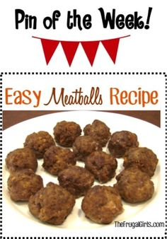 Easy Meatballs Recipe! ~ from TheFrugalGirls.com ~ make some meatballs for your pasta dinner... or as a delicious appetizer! #meatball #recipes #thefrugalgirls