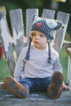 "Everybody will be ""hooting"" at how cute your child looks in 'the Hoot' beanie :) For every beanie sold we give $7 to this week's charity!"