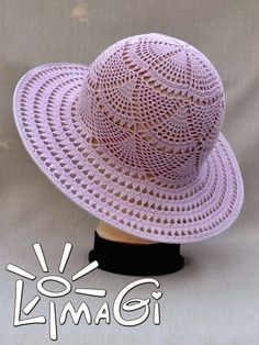 chapeus em croche ile ilgili g Crochet Summer Hats, Love Crochet, Beautiful Crochet, Crochet Hats, Crochet Socks Pattern, Bonnet Crochet, Crochet Stitches Patterns, Crochet Scarf For Beginners, Sombrero A Crochet