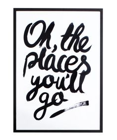 Oh The Places You'll Go print (Large) - Prints - Homeware
