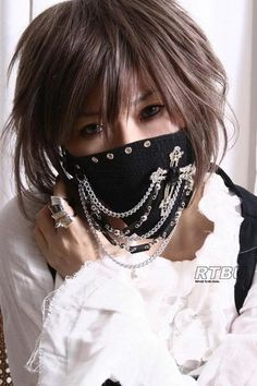 'Visual Kei Chain And Crucifix Face Mask'