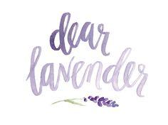 Dear Lavender