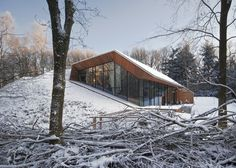 Here's a Half-Buried Snow Villa Unlike Any Lodge on Earth
