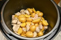 Life With 4 Boys: Pressure Cooker Garlic Parmesan Chicken and Potatoes Recipe
