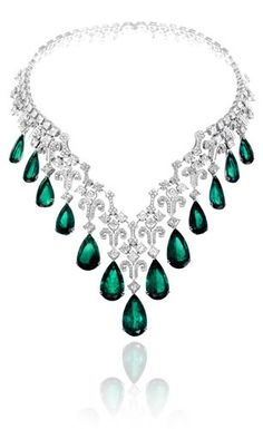 Chopard won Best Oriental Design Jewellery Piece » for this magnificent emerald and diamond necklace. The awards were presented alongside Jewellery Arabia 2010 in the Kingdom of Bahrain. The participants included many leading companies in the industry.