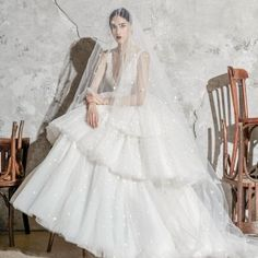 Zuhair Murad's Spring 2020 bridal collection translates the romance of Spain into wedding dresses of exquisite femininity, embellished with details like elaborate How To Dress For A Wedding, Wedding Dress Trends, Bridal Wedding Dresses, Bridal Style, Zuhair Murad, Types Of Gowns, Traditional Gowns, Bridal Skirts, Bridal Cape