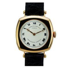 Patek Philippe Rose Gold Cusion Wristwatch Retailed by Gondolo and Labouriau, Rio de Janeiro circa 1920s