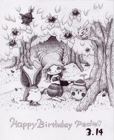 ペシュお誕生日おめでとう!!おせっかい焼きな君が初見から好きだったよ!! #マジバケ pic.twitter.com/5jkv88UGvA