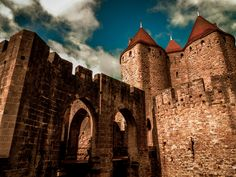 Carcassonne, Languedoc-Roussillon, France by Alxou deviantart.com on @deviantART