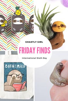 The perfect gifts for the sloth lover in your life to celebrate International Sloth Day!