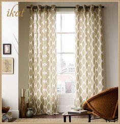 Ikat Ogee linen window panels from West Elm #laylagrayce #ikat