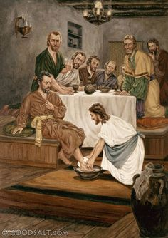 John 13: Jesus washing apostle's feet