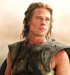 "Brad Pitt in Troy! My grand-daughter used to call him ""Hot-Pitt"". Troy Movie, I Movie, Movie Stars, Jennifer Aniston, Eric Bana, Brat Pitt, Thelma Et Louise, Julie Christie, Actrices Sexy"