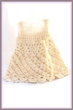 Wind Dancer Crochet Pattern Sundress Sizes 6 mos - girls size 5. $6.99, via Etsy.