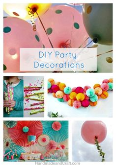 DIY Party Decorations–10 Inspiring Ideas!...I love these!