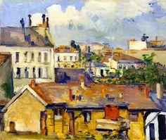 Paul Cézanne, Grupo de casas (o Los Tejados), 1876-1877. ´Óleo sobre lienzo, 50.2 x 60 cm, Villa Flora, Winterthur, Suiza