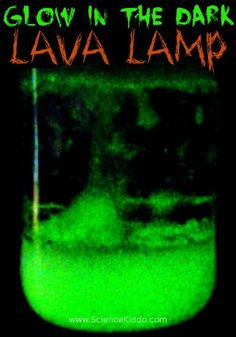 Make a glow in the dark lava lamp this Halloween to wow the kids! No black light needed. There is so much science to learn from this one exciting activity!
