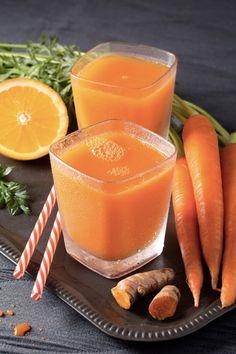 15 receitas de suco de cenoura que beneficiam sua saúde e beleza - Chás/Sucos. Health Drinks Recipes, Healthy Drinks, Diet Recipes, Healthy Eating, Healthy Recipes, Healthy Food, Bebidas Detox, Kiwi Smoothie, Fruit Drinks