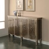 Found it at Wayfair - Tiara Credenza in Silver. $100 less than on this site vs. horchow and free shipping. nice.